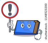 with sign memory card character ... | Shutterstock .eps vector #1148523200