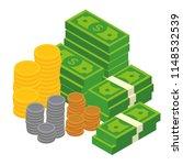 concept of big money. big pile... | Shutterstock .eps vector #1148532539