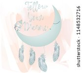 moon and feathers with follow... | Shutterstock .eps vector #1148532716