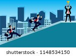 businessman competition on up... | Shutterstock .eps vector #1148534150