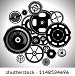 clock work watch time mechanism ... | Shutterstock .eps vector #1148534696