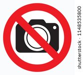 no cameras allowed sign. red... | Shutterstock .eps vector #1148535800