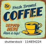 vintage metal sign   fresh... | Shutterstock . vector #114854224
