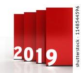 3d illustration of 2019 text in ...   Shutterstock . vector #1148544596