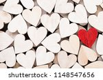 white and red hearts ... | Shutterstock . vector #1148547656