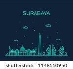 surabaya skyline   east java ... | Shutterstock .eps vector #1148550950