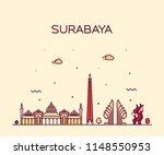 surabaya skyline   east java ... | Shutterstock .eps vector #1148550953