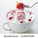 homemade yogurt with... | Shutterstock . vector #114855328