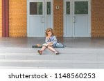on a sunny day at school ... | Shutterstock . vector #1148560253