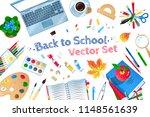 top view vector illustration... | Shutterstock .eps vector #1148561639