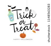 halloween greeting card. trick... | Shutterstock .eps vector #1148563283