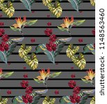 striped vintage pattern with... | Shutterstock .eps vector #1148563460
