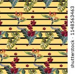striped vintage pattern with... | Shutterstock .eps vector #1148563463