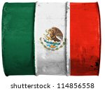 the mexican flag painted on ... | Shutterstock . vector #114856558