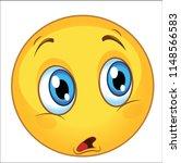 amazed emoticon cartoon. vector | Shutterstock .eps vector #1148566583