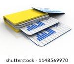 3d rendering folder with... | Shutterstock . vector #1148569970