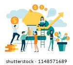 group of people characters... | Shutterstock .eps vector #1148571689