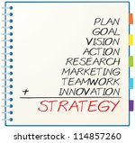 concept of strategy consists of ... | Shutterstock . vector #114857260