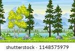 seamless cartoon nature... | Shutterstock .eps vector #1148575979