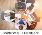 top view of group of business... | Shutterstock . vector #1148583470