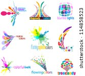 color concept logo set  icon... | Shutterstock .eps vector #114858523