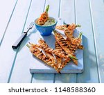 sesame crusted grilled young... | Shutterstock . vector #1148588360
