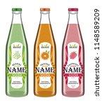 collection transparent bottles... | Shutterstock .eps vector #1148589209
