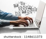 email marketing and newsletter... | Shutterstock . vector #1148611373