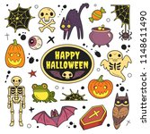 happy halloween patches... | Shutterstock .eps vector #1148611490