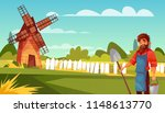 farmer or peasant vector... | Shutterstock .eps vector #1148613770
