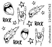 rock and roll  signs. seamless... | Shutterstock .eps vector #1148614763