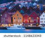 bergen   norway   may 2 2018 ... | Shutterstock . vector #1148623343