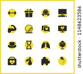 activity icons set with lungs ...