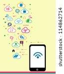social network   social media | Shutterstock .eps vector #114862714