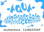 aqua hand drawn signs and... | Shutterstock .eps vector #1148633369