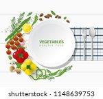 flat lay fresh vegetables on...   Shutterstock .eps vector #1148639753