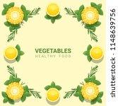 flat lay fresh vegetables on...   Shutterstock .eps vector #1148639756