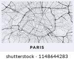 light paris city map. road map... | Shutterstock .eps vector #1148644283