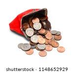 full coin purse spilling out...   Shutterstock . vector #1148652929