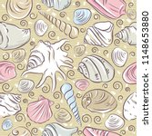 seamless patterns with  summer... | Shutterstock .eps vector #1148653880
