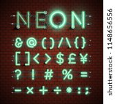 high detailed neon font set ... | Shutterstock .eps vector #1148656556