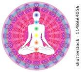 chakra concept. inner love ... | Shutterstock .eps vector #1148664056