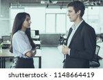 serious business employee... | Shutterstock . vector #1148664419