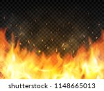 realistic flames on transparent ... | Shutterstock .eps vector #1148665013