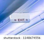 vintage tone emergency exit... | Shutterstock . vector #1148674556