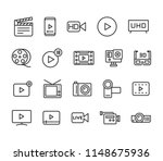 simple set of video editing... | Shutterstock .eps vector #1148675936