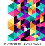 multicolored triangles abstract ... | Shutterstock .eps vector #1148676326