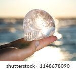 woman's hand holding clear... | Shutterstock . vector #1148678090