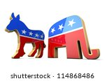 isolated democrat party and... | Shutterstock . vector #114868486