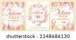 autumn special offer banners... | Shutterstock .eps vector #1148686130